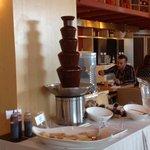 Fontaine à chocolat au petit déjeuner