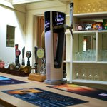 Selection of drinks, including local Hook Norton