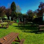 Great beer garden, with children's play area