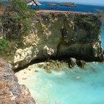 dramatic cliffs at Pink Beach, Lombok