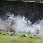 Muskets fireing at Brimstone Fort