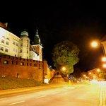 Wzgórze Wawelskie nocą