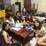 3階交流スペースでの飲み会/party in the comon room(3F)