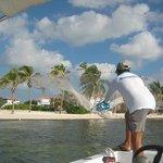 catching bait before reef fishing