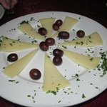 A fabulous cheese plate with grapes