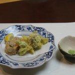 鶏とフォアグラの東寺揚げ