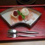 桜のデザート