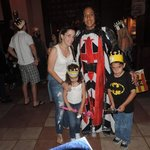 The red and black knight with me and the babies!