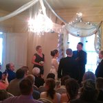 View of Ceremony in Main Living Room