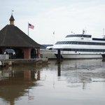 """Spirit of Mount Vernon"" docked at the estate wharf"