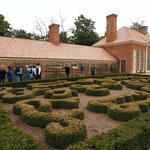 The formal garden by the greenhouse