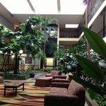Beautiful green lobby!♥♥