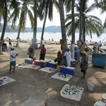 Zihuatanejo fishermen's morning catches