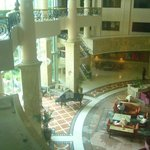 a view from my room to lobby