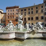 Neptune Fountain in Piazza Navona.