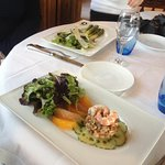 Sparragus (left) and trout tartare!