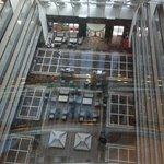 Foyer from glass lift