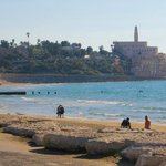 View of Jaffa from the beach in front of the hotel