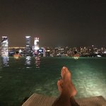 Relaxing by the Infinity pool at 10pm.  No Crowds.