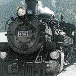 Engine 482 in Silverton, waiting for the return trip to Durango.