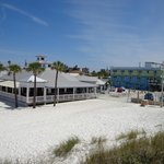 Picture of our Hotel & Restaurant from sand dune on Beach