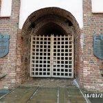 центральные ворота замка
