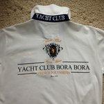 Back of polo shirt