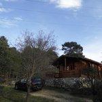 Exterior de la cabaña