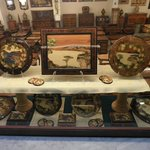 Display of various inlaid products for sell.