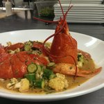 Lobster Paella served with fresh Zucchini,Cauliflower in a mild Tandoori Sauce