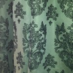 Damask curtains - very chic