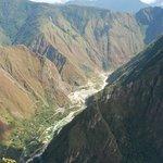 Urubamba River from Inca Bridge