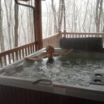 Hottubbing in the snow!