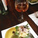 Delicious Eche Seviche & Empanada; and Famous Hangover Drink