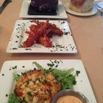 Portabella Crab, Tiki Shrimp & French Onion Soup