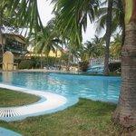 view around the pool