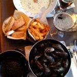 cozze e patate deludenti , zuppa ottima