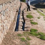 There are many aqueducts on the site.