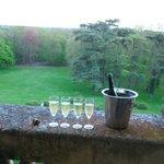 champagne! vue de la chambre Agnès Sorel