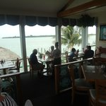 Looking out from the bar to the Gulf of Mexico