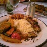 Couscous brochette poulet et legumes