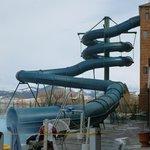 The outdoor water slide.  No we didn't