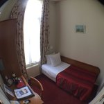 Single room (fisheye lens). Room 1A on the back of the hotel.