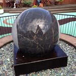 this is a huge marble -weight over 2 tons that floats on water!