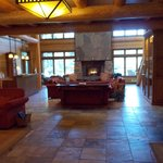 Center of Lodge with Fireplace and seating area
