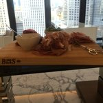 Proscuitto from the club lounge