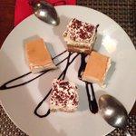 Tiramisu e tarte de queijo