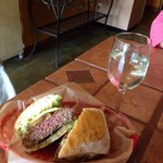 Dagotto's new bison burger panini on ciabatta! This one is unbelievably good!