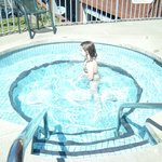 My granddaughter enjoying the hot tub