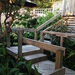 Walkway to our chalet